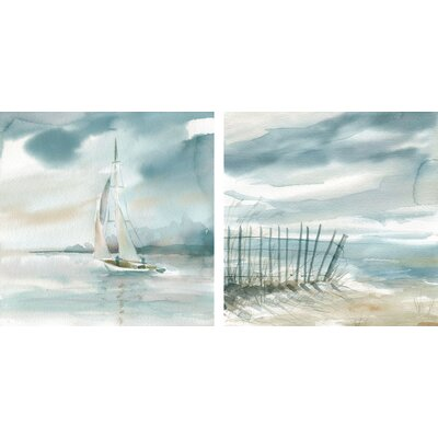 Subtle Mist I & II by Carol Robinson 2 Piece Painting Print on Canvas Set FC117610D