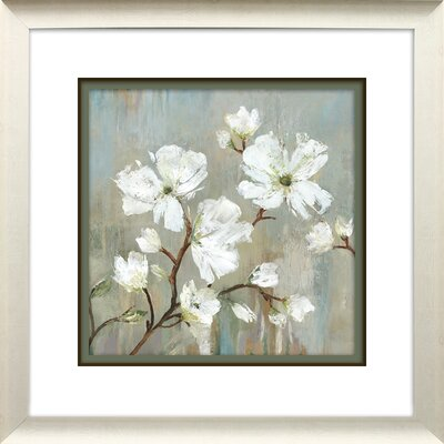 'Sweetbay Magnolia I' Vertical Framed Painting Print Size: 21.75