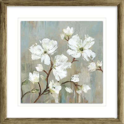'Sweetbay Magnolia I' Painting Print Format: Brown Framed with Single White Mat, Size: 17
