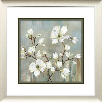'Sweetbay Magnolia II' Square Framed Painting Print Size: 21.75
