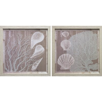Seaboard I & II by Jarman Fagalde 2 Piece Framed Graphic Art Set FA114126