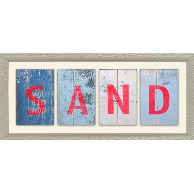 Beach and Sand I by SD Graphics Studio Framed Textual Art FA115686