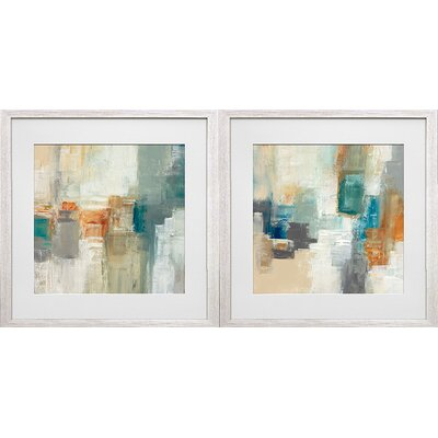 'Piquant I and II' by Cat Tesla 2 Piece Framed Acrylic Painting Print Set FA125501