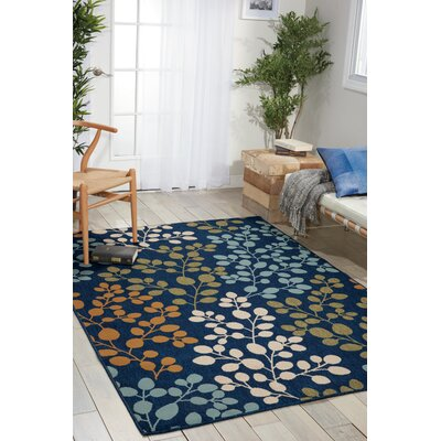 Brockenhurst Navy Indoor/Outdoor Area Rug Rug Size: Rectangle 3'9