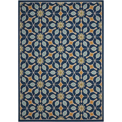 Lewis Navy Indoor/Outdoor Area Rug Rug Size: Rectangle 53 x 75
