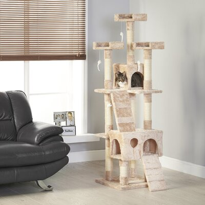 22 eSecure Platform Cat Tree Color: Brown