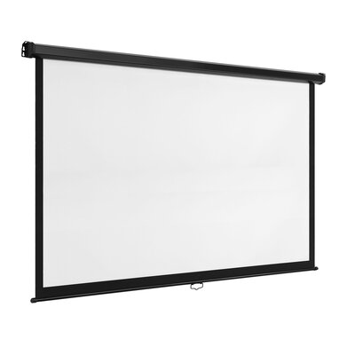 White Manual Projection Screen Viewing Area: 100