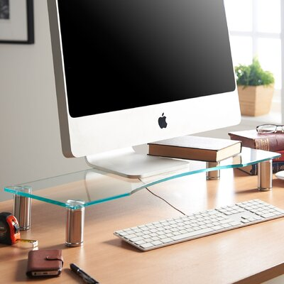 Large Adjustable Height Monitor Stand