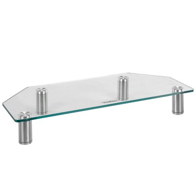 3.7 H x 23.7 W Monitor Stand Color: Clear