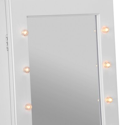 Walsall Makeup Free Standing Jewelry Armoire with Mirror