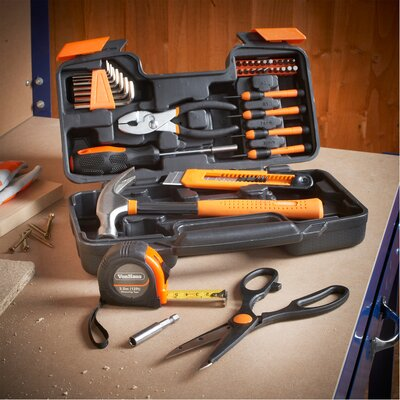 39 Piece General Household Hand Tool Kit 15/057