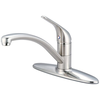 Legacy Single Handle Centerset Kitchen Faucet Finish: Brushed Nickel