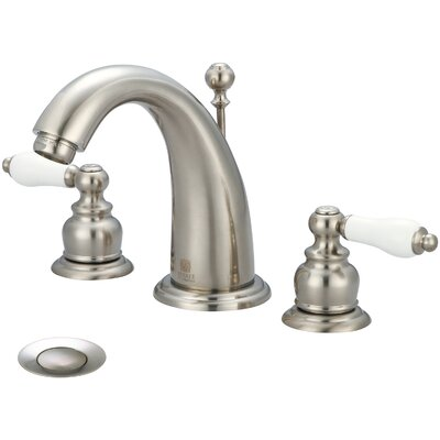 Brentwood Double Handle Widespread Bathroom Faucet Finish: Brushed Nickel