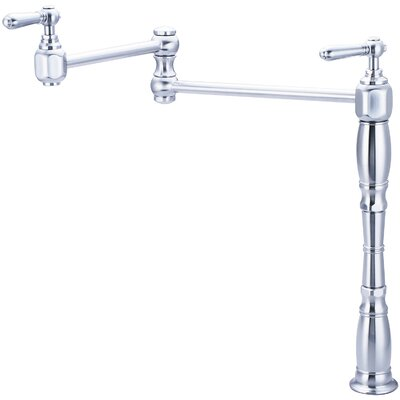 Americana Deck Mounted Pot Filler Finish: Stainless Steel