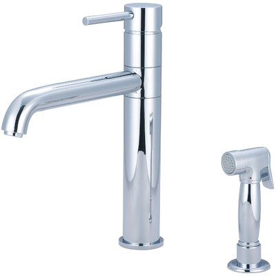 Motegi Single Handle Deck Mounted Kitchen Faucet with Side Spray Finish: Polished Chrome