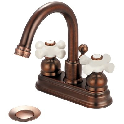 Brentwood Double Handle Centerset Bathroom Faucet Finish: Oil Rubbed Bronze