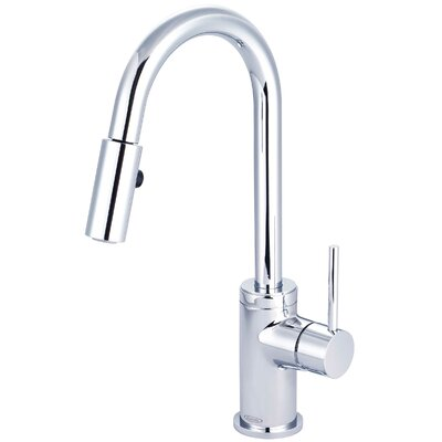 Motegi Single Handle Deck Mounted Standard Kitchen Faucet Finish: Polished Chrome