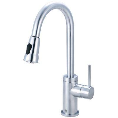 Motegi Pull Down Single Handle Kitchen Faucet Finish: Stainless Steel