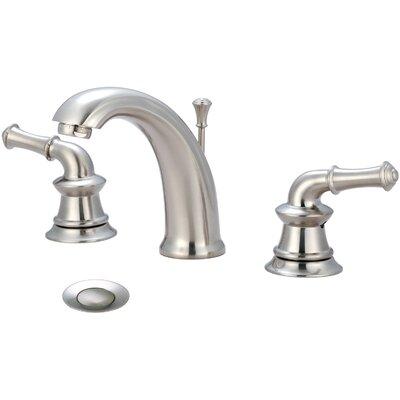 Del Mar Double Handle Widespread Bathroom Faucet Finish: Brushed Nickel