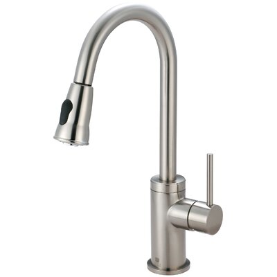 Motegi Single Handle Deck Mounted Kitchen Faucet Finish: Brushed Nickel