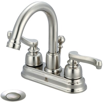 Brentwood Double Handle Centerset Bathroom Faucet Finish: Brushed Nickel