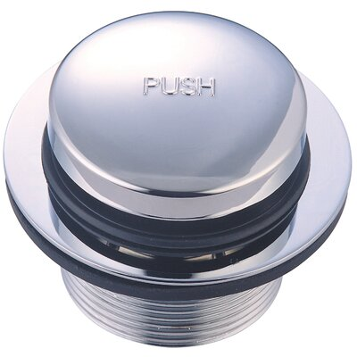 2.64 Pop-Up Bathroom Sink Drain Finish: Polished Chrome