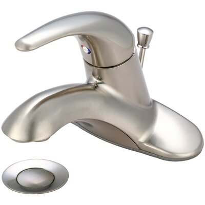 Legacy Single Handle Centerset Bathroom Faucet Finish: Brushed Nickel