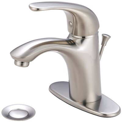Vellano Single Handle Bathroom Faucet with Deck Cover Plate Finish: Brushed Nickel