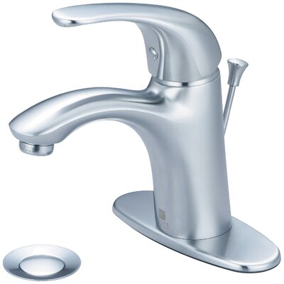 Vellano Single Handle Bathroom Faucet with Deck Cover Plate Finish: Stainless Steel