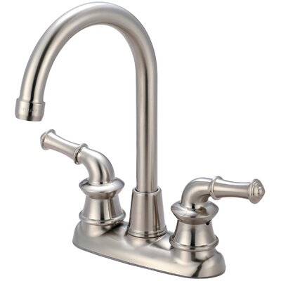 Del Mar Double Handle Centerset Bar Faucet Finish: Brushed Nickel
