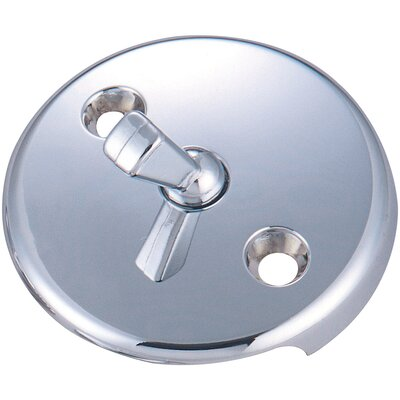 Bath Overflow Trip Lever Face Plate Finish: Polished Chrome