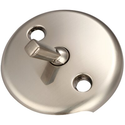 Bath Overflow Trip Lever Face Plate Finish: Brushed Nickel