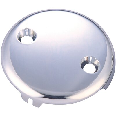 Bath Overflow 2 Hole Face Plate Finish: Polished Chrome