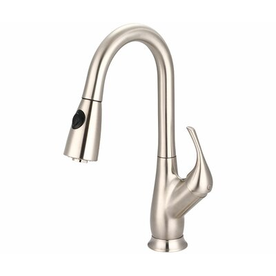 Motegi Single Handle Deck Mounted Standard Kitchen Faucet Finish: Stainless Steel