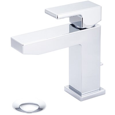 Mod Single Hole Single Handle Bathroom Faucet with Deck Cover Plate Finish: Polished Chrome