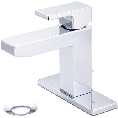 Mod Single Handle Bathroom Faucet with Deck Cover Plate Finish: Brushed Nickel