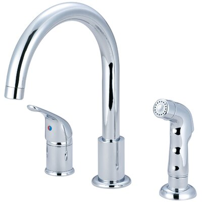Premium Single Handle Deck Mounted Kitchen Faucet with Side Spray