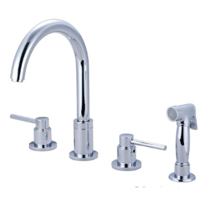 Motegi Double Handle Kitchen Faucet Finish: Brushed Nickel