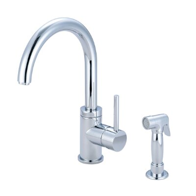 Motegi Single Handle Kitchen Faucet Finish: Polished Chrome