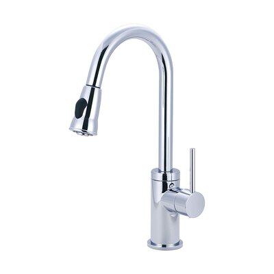 Motegi Pull Down Single Handle Kitchen Faucet Finish: Polished Chrome