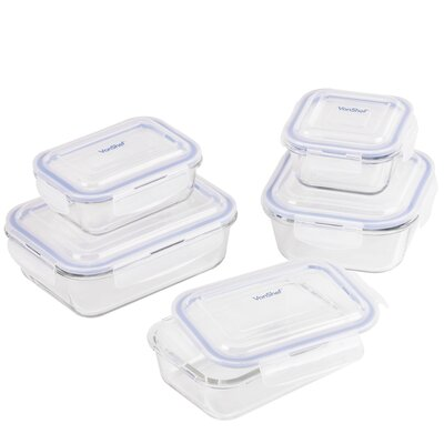 Glass 5 Container Food Storage Set 07/563