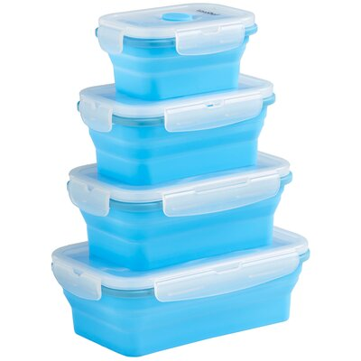Silicone Collapsible 4 Piece Storage Container Set 07/684