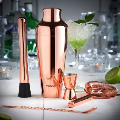 5 Piece Parisian Cocktail Shaker Set 07/753/US