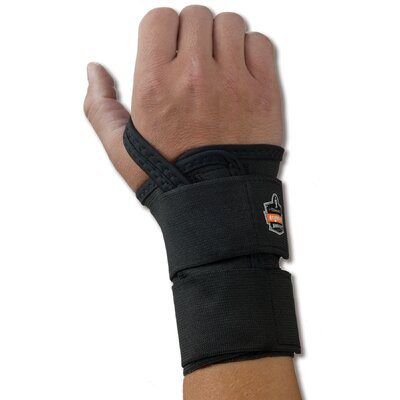 ERGODYNE ProFlex 4010 Double Strap Wrist Support for Left Hand - Color: Black, Size: Medium at Sears.com