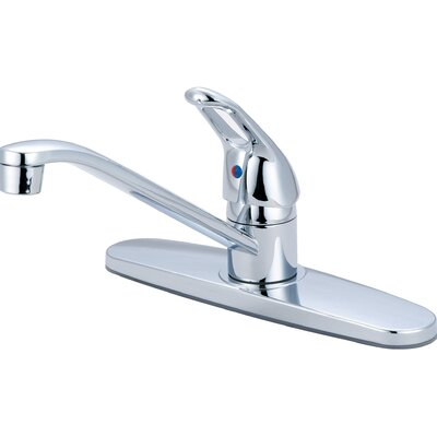 Single Handle Centerset Kitchen Faucet Finish: Chrome