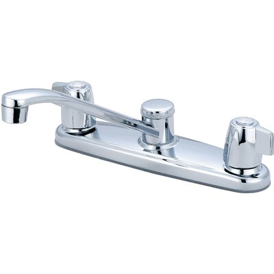 Double Handle Deck Mounted Centerset Standard Kitchen Faucet
