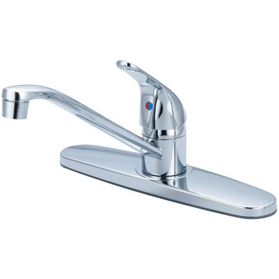 Single Handle Deck Mounted Centerset Kitchen Faucet Finish: Chrome