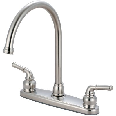 Double Handle Kitchen Faucet Finish: PVD Brushed Nickel