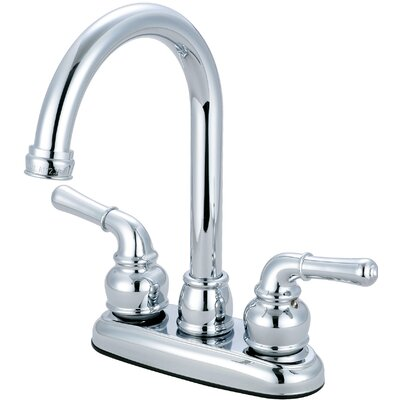 Double Handle Deck Mounted Centerset Bar Faucet Finish: Chrome
