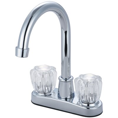 Double Handle Deck Mounted Centerset Bar Faucet